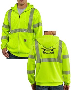 Carhartt High-Visibility Zip-Front Class 3 Sweatshirt