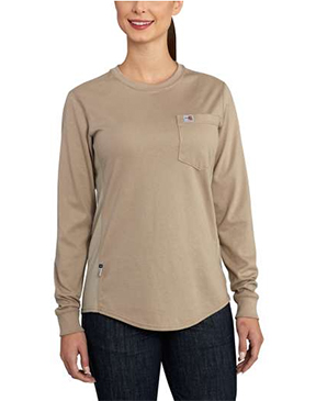 WOMEN'S FLAME-RESISTANT LONG SLEEVE T-SHIRT