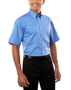 Van Heusen Men's Short Sleeve Twill Dress Shirt