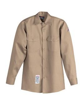 Button-Front Work Shirt
