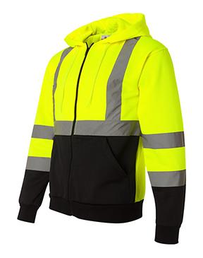 ML Kishigo - Hi-Vis Hooded Full-Zip Sweatshirt