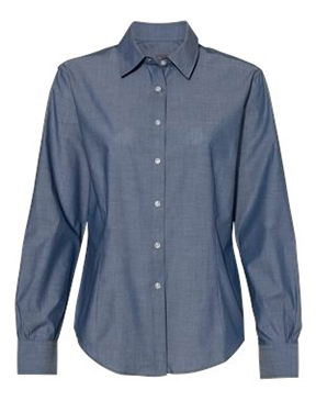 Van Heusen - Women's Chambray Spread Collar Shirt
