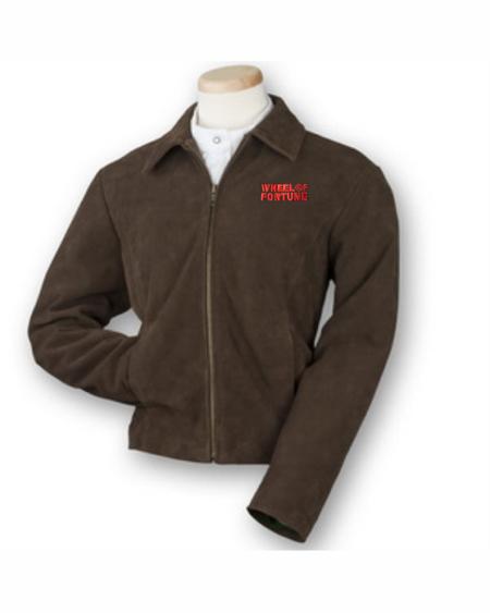 Ladies Zip Suede Jacket