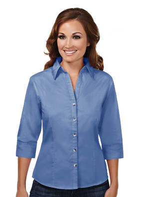 Affinity -  Ladies Woven ¾ length sleeve