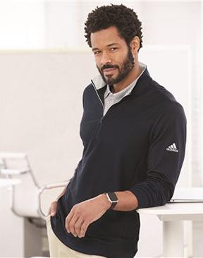 Adidas - Performance Texture Quarter-Zip Pullover