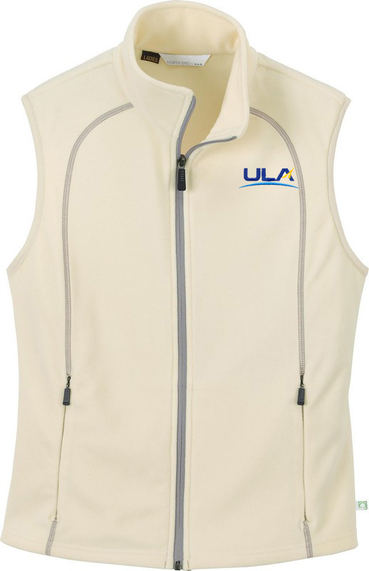 LADIES' RECYCLED FLEECE FULL-ZIP VEST