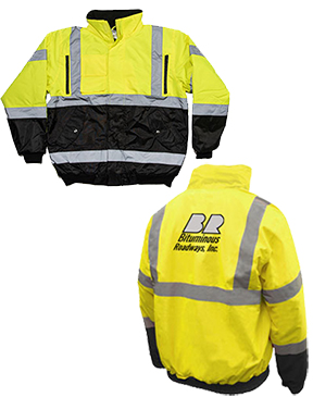 CLASS 3 BLACK BOTTOM QUILTED-LINED SAFETY JACKET
