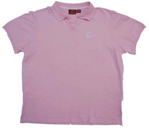 C2 Technologies Ladies' Harriton Polo Shirt (Pink/White)