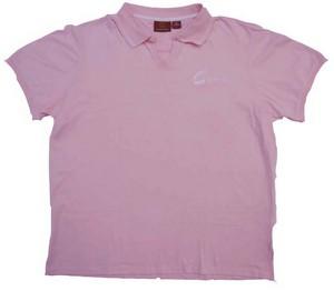 C2 Technologies Ladies' Harriton Polo Shirt (Pink/White)