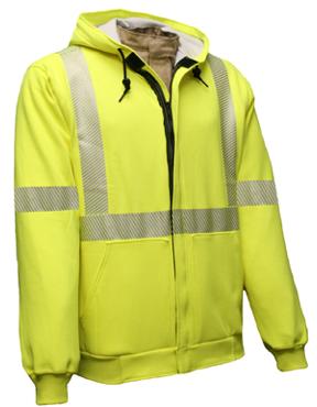 Class 3 Fire Resistant Hooded Full Zip Sweatshirt