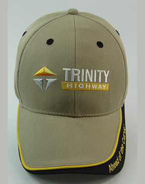 .Khaki cap with Tagline on Bill