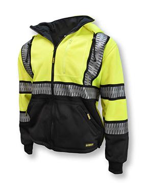 Class 3 Deluxe Zip front hooded sweatshirt
