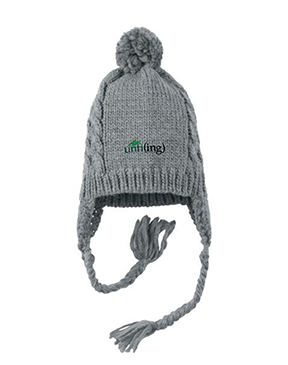 District Cabled Beanie with Pom - unfi(ing)