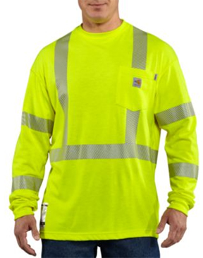 MEN'S FLAME-RESISTANT HIGH VISIBILITY LONG SLEEVE SHIRT
