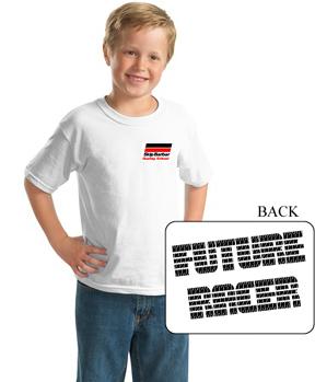Future Racer T: Kids white tee