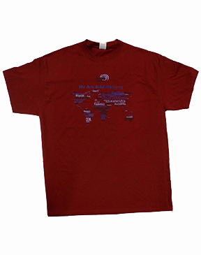 NEW!!! WE ARE #IAEMSTRONG WORDCLOUD LOGO T-SHIRT
