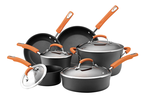 Rachael Ray 10-Piece Hard Anodized Cookware Set