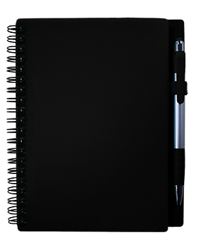 Plastic Cover Notebook w/ Pen