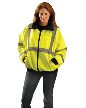 Water Resistant, ANSI Class 3 Reflective Bomber