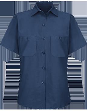 Red Kap - Women's Short Sleeve Industrial Work Shirt