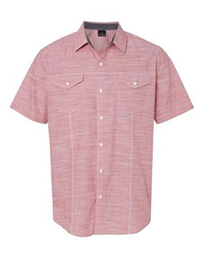 Burnside - Textured Solid Short Sleeve Shirt
