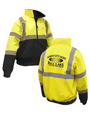 Class 3 Black Bottom 2-in-1 Safety Jacket