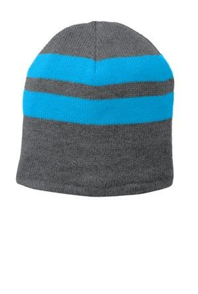 Port & Company ®  Fleece-Lined Striped Beanie Cap