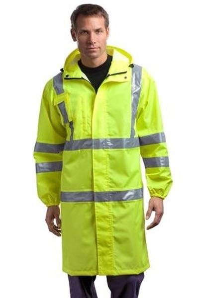 CornerStone ®  - ANSI Class 3 Long Waterproof Rain Coat. CSJ23