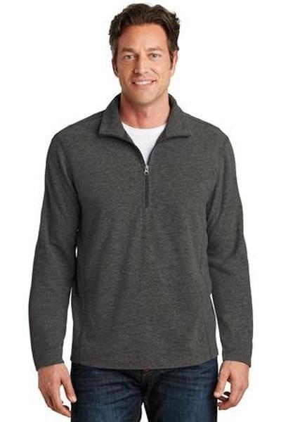 Port Authority ®  Heather Microfleece 1/2-Zip Pullover