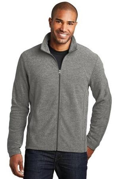 Port Authority ®  Heather Microfleece Full-Zip Jacket