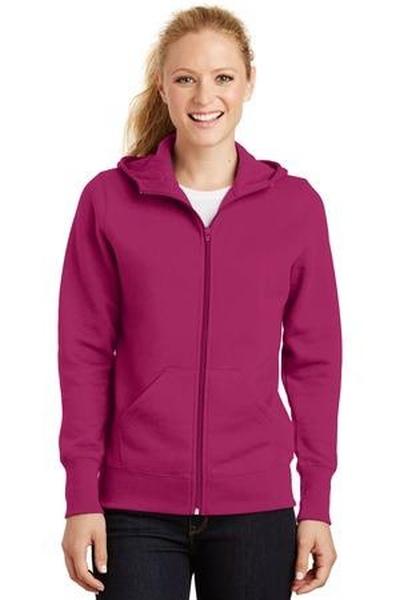 Sport-Tek ®  - Ladies Full-Zip Hooded Fleece Jacket