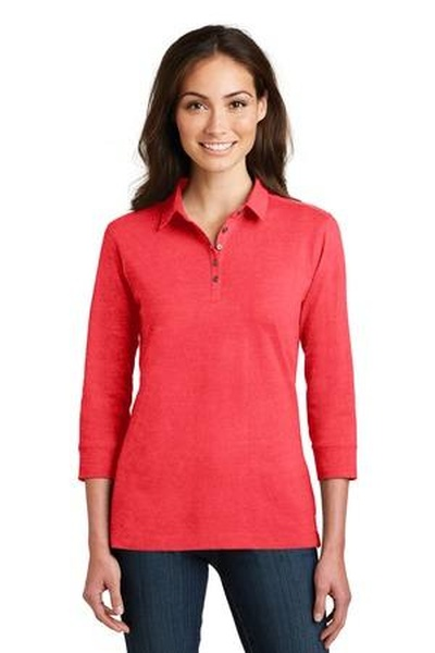 Port Authority ®  Ladies 3/4-Sleeve Meridian Cotton Blend Polo