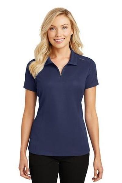 Port Authority ®  Ladies Pinpoint Mesh Zip Polo