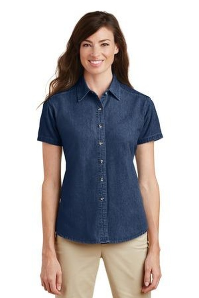 Port & Company ®  - Ladies Short Sleeve Value Denim Shirt