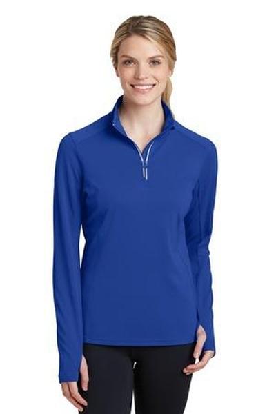 Sport-Tek ®  Ladies Sport-Wick ®  Textured 1/4-Zip Pullover
