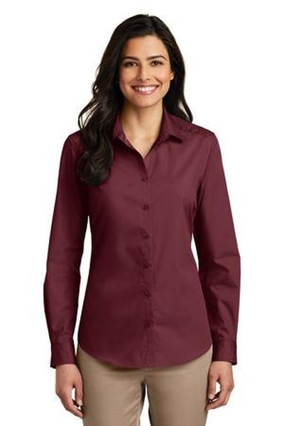 Port Authority ®  Ladies Long Sleeve Carefree Poplin Shirt
