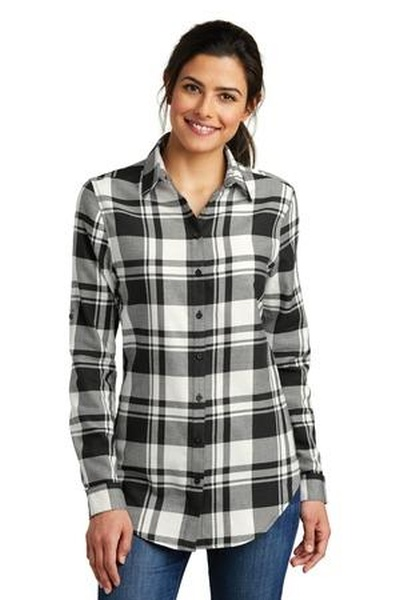 Port Authority ®  Ladies Plaid Flannel Tunic