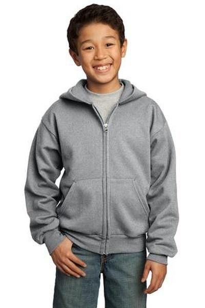 Port & Company ®  - Youth Full-Zip Hooded Sweatshirt