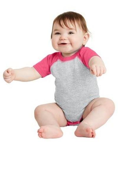 Rabbit Skins ™  Infant Baseball Fine Jersey Bodysuit