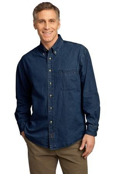 Port & Company ®  - Long Sleeve Value Denim Shirt