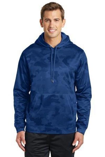 Sport-Tek ®  Sport-Wick ®  CamoHex Fleece Hooded Pullover