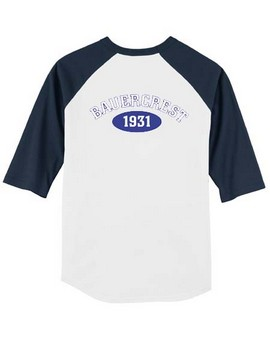3/4 Sleeve Baseball Shirt: Youth