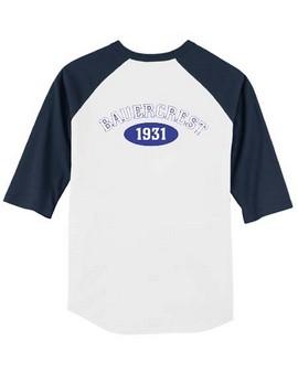 3/4 Sleeve Baseball Shirt: Adult