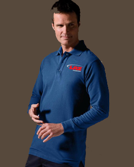 Unisex Long Sleeve Silk Touch Polo
