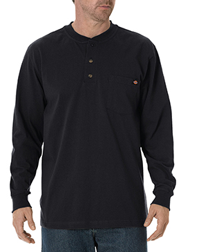 Dickies Men's Long-Sleeve Heavyweight Henley