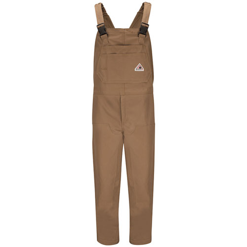 FR BROWN DUCK INSULATED BIB OVERALLS