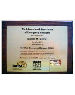 IAEM - CEM Plaque -Express Delivery