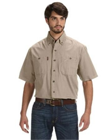 Dri Duck Men's Short-Sleeve Brick Workshirt
