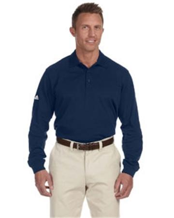 adidas Golf Men's ClimaLite® Tour Piqué Long-Sleeve Polo