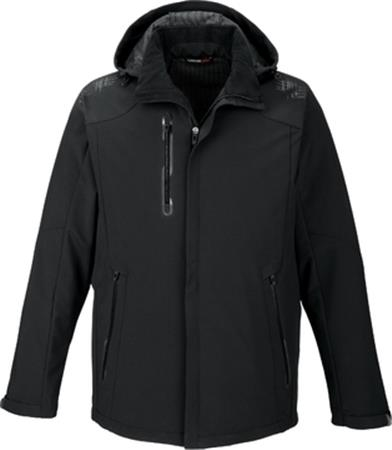 AXIS MEN'S SOFT SHELL JACKET WITH PRINT GRAPHIC ACCENTS